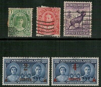 Lot 3432 - Newfoundland Early Selection of Five Used Stamps