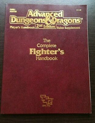 TSR Advanced D&D 2nd Ed 1989The Complete Fighter's Handbook, very nice shape!