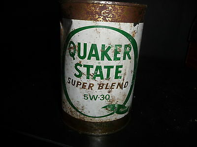 Quaker State 5W30 Metal Motor Oil Can 1 Litre FULL