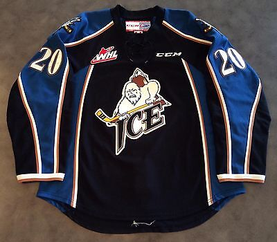 Game Worn Tim Bozon 2014-15 Kootenay Ice Kamloops Blazers Whl Chl Nhl Jersey 56