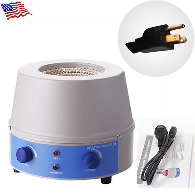 Quality Electric Cotrol Magnetic Stir 500Ml Temperature Heating Mantle 110V US
