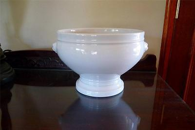Pillivuyt  France Lions Head Porcelain  3 Litre Bowl /  Soup Tureen / Fruit Bowl