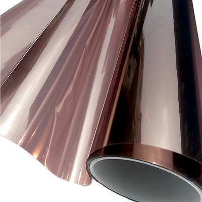 yazi Brown Mirror One Way Window Film Solar Reflective Privacy Tint Stop Heat