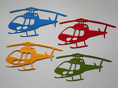 Helicopter Paper Die Cuts x 8 Boys Scrapbooking Card Topper Embellishment