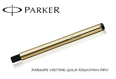 Parker Vector Gold GT Fountain Pen Brand New in Gift Box