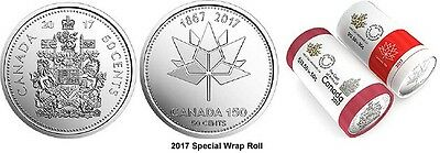 2017 50 Cent Coin Canada x 2 Coat of Arms & 150th Anniversay