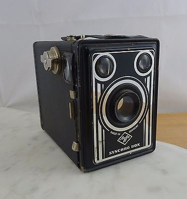 Vintage Agfa Synchro Box Camera Art Deco Design Made in Germany