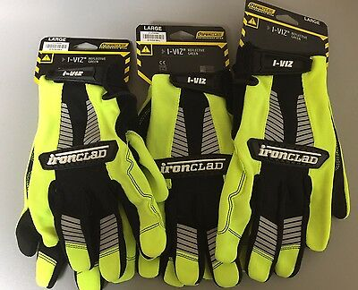 3 Pair (three) Ironclad Gloves Size (adult Large)