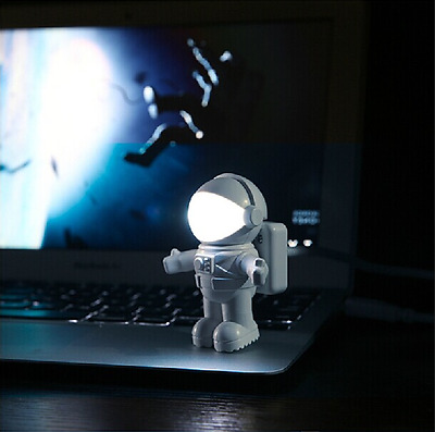 Cute Astronaut Spaceman LED USB Night Light Lamp for Reading Laptop