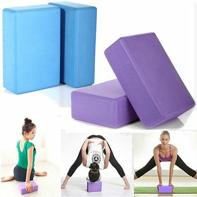 2Pcs Pilates Yoga Block Foaming Foam Brick Exercise Fitness Stretching Aid Gym&&
