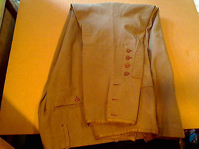 Original Named Dated Great Shape WWI US Army Trousers Small 28 W Faded OD Green