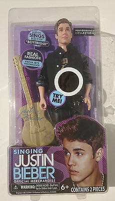 Rare 2012 Singing Justin Beiber Doll Performance Collection Official Merchandise
