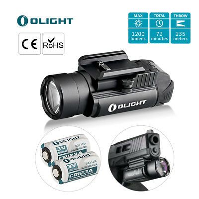 Olight PL-2 VALKYRIE Cree LED Torch 1200LUMENS Tactical Pistol Light 2xCR123A UK