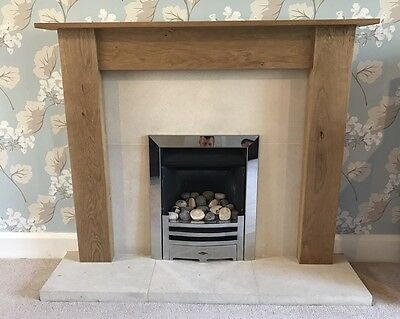 NEW - SOLID OAK Fire Surround Mantle, Made to Measure (Mantel, Fireplace)