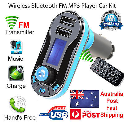 Wireless Bluetooth Car Kit FM Transmitter Radio MP3 Music Player LCD USB Charger