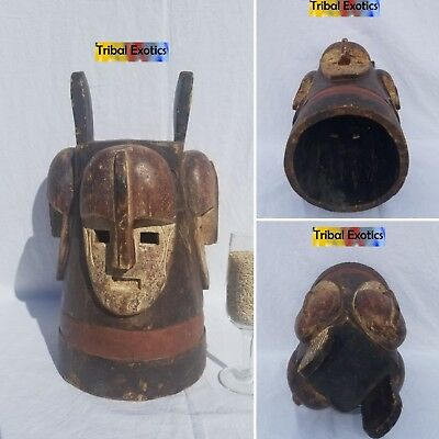 STRIKING Fang Pangwe Ngontang Mask Figure Sculpture Statue Fine African Art
