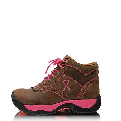 Twisted X | Womens Pink Ribbon All Round Lace Up