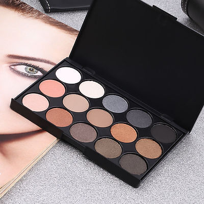 Professional 15 Colors Matte Shimmer Eyeshadow Palette Makeup Cosmetic MX