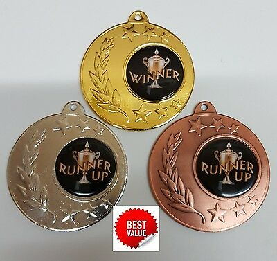 1 x 50mm GOLF MEDAL,TROPHY, included  ribbons,and  engraving