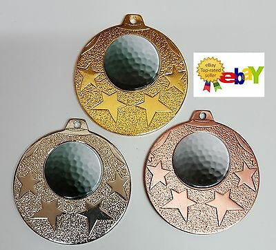 1 x 50mm GOLF MEDAL,TROPHY,  ribbons,and  engraving