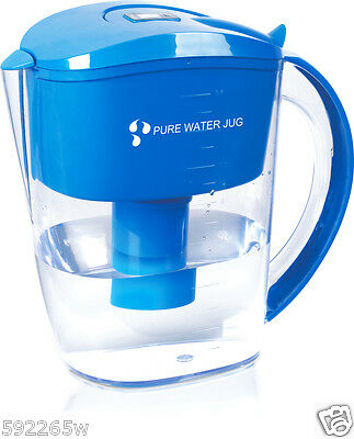 Alkaline Ioniser Water Filter Jug. Includes one 7 stage filter. Antioxidants