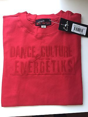 Energetiks Dance Culture Red T-Shirt Adults Small, Medium, Large New