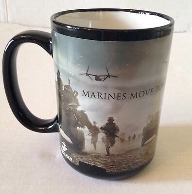 Marines Moves Toward The Sound Of Chaos Black Coffee Mug