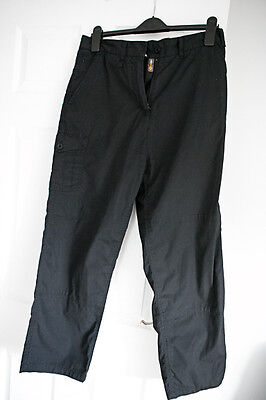 Craghoppers black women trousers 14 S solar dry