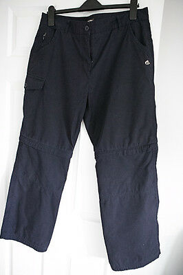 Craghoppers navy women trousers 16R convertible