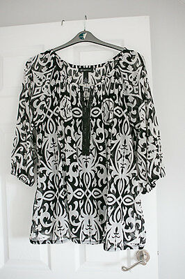 INC international black and white top 3X (20,22,24)