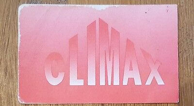 Climax Rave Membership/flyer Card