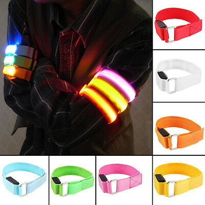 Flashing LED Safety Night Reflective Belt Strap Arm Band Armband For Running MX
