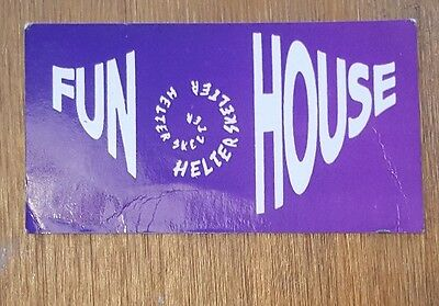 Helter Skelter Fun House  Rave Membership/flyer Card