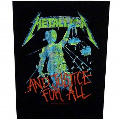 Metallica justice for all Back Patch XLG free worldwide shipping