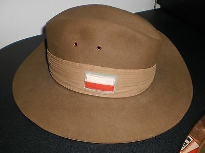 Ww2 Australian Slouch Hat 1943 And  Patched