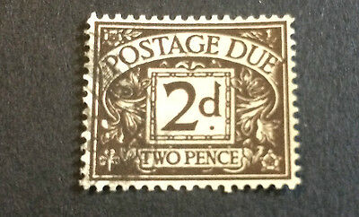 GB GREAT BRITAIN SG D59WI 1950 2d RARE COLLECTABLE TWO PENCE POSTAGE DUE STAMP