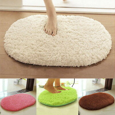 Anti-slip Soft Absorbent Bath Bathroom Bedroom Floor Plush Mat Rug Non-slip MX