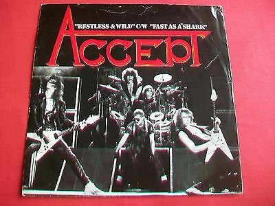 "Accept - Restless & Wild / Fast As A Shark - 12"" Single 1983 12 Hi 3 Heavy Metal"