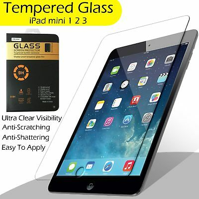 100% Genuine Tempered Glass Screen Protector For Apple iPad Mini 1,2,3