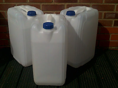 """3 x 25 Litre """"NEW SHAPE"""" Polycans ,Water containers,  drums or Jerry cans"""