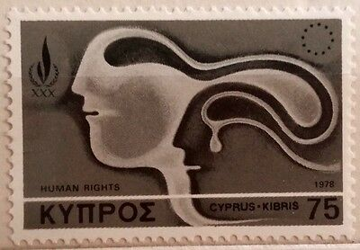 Cyprus Stamp: Human Rights, 75mils, 1978, MNH.