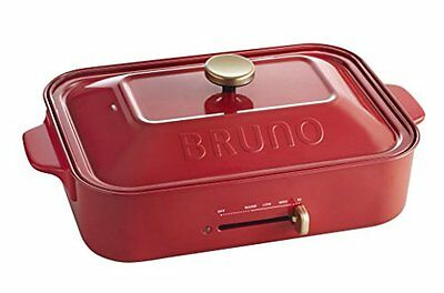 BRUNO Compact hot plate red BOE 021 - RD