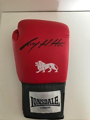 Ricky Hatton signed Boxing Glove (Red) WBA Welterweight Champion World