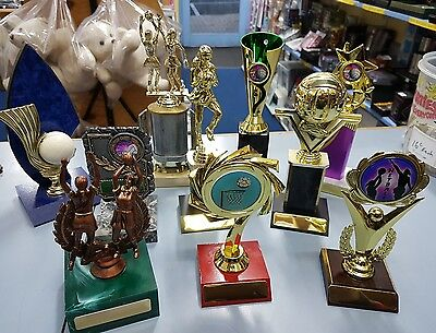 10 x Assorted Netball Trophies Discontinued Range.