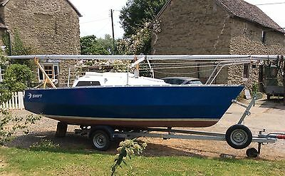 Swift 18 Trailer Sailer with road trailer. Refurbished