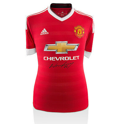 Wayne Rooney Signed Manchester United Shirt - 2015/2016 Autograph Jersey