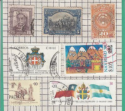 Chile 9 Stamps Used