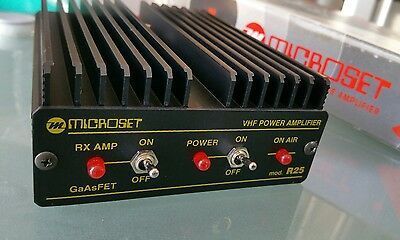 144 - 148 MHz H performance amplifier 30W with GaAsFET preamplifier Microset R25