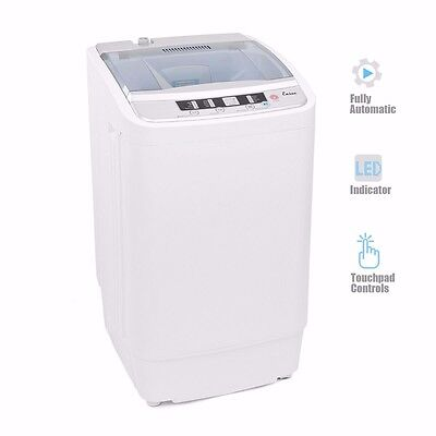Top Load Full Automatic Washing Machine Washer Spin Dryer Led Stainless Steel