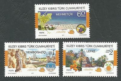 North Cyprus Stamps 2017 Cittaslow Member Towns in North Cyprus - MINT NEW